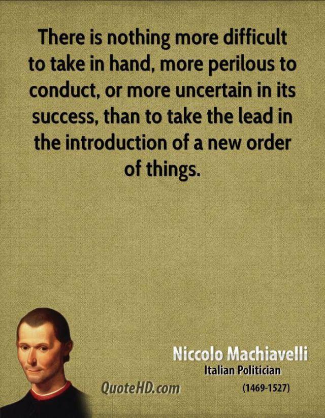 Inspirational Quote: Niccolo Machiavelli Success Quotes