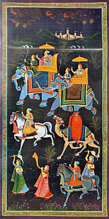 Mughal Procession (Reprint on Paper - Unframed))