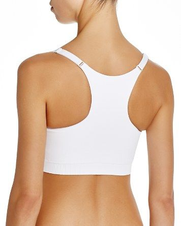 Yummie by Heather Thompson Whitney Racerback Sports Bra. V-neck, racerback, full-coverage pullover style Adjustable straps with double-strap detail at front, ribbed elastic band under bust #WomensFashion #SportsBra #WorkoutClothes More Detail >>> http://sportsbras.goguides.cc/bestbras/aHR0cDovL2JpdC5seS8yOXh1VElI