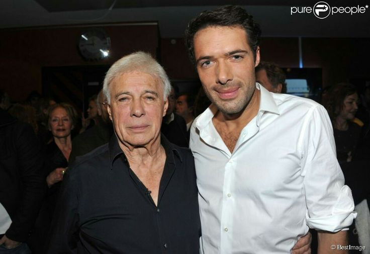 Guy Bedos et son fils Nicolas Bedos humoristes français  -----  purepeople -----