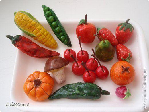 Лепка - Фрукты и овощи из солного теста