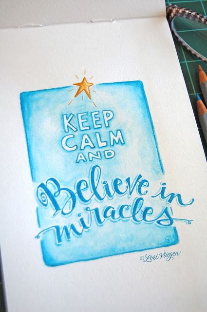 Goodness gracious! I can't believe Lori Vliegen stamped part of this and drew the rest. So amazing! The Believe in Miracles portion is from her Believe in Miracles stamp set from TechniqueTuesday.com.