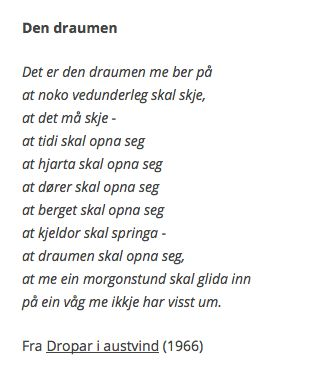av Olav. H. Hauge. Norske dikt. #Norge #Poesi #Litteratur