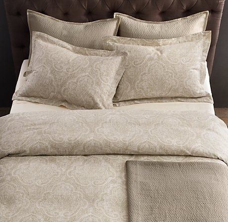 Hardware duvet   would look great with grasscloth wallpaper