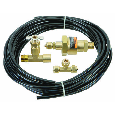 This compressor drain kit automatically removes condensation to prevent rust formation, extending the life of your compressor tank. Made with high-quality brass, this durable compressor drain kit features automatic clog-free discharge.