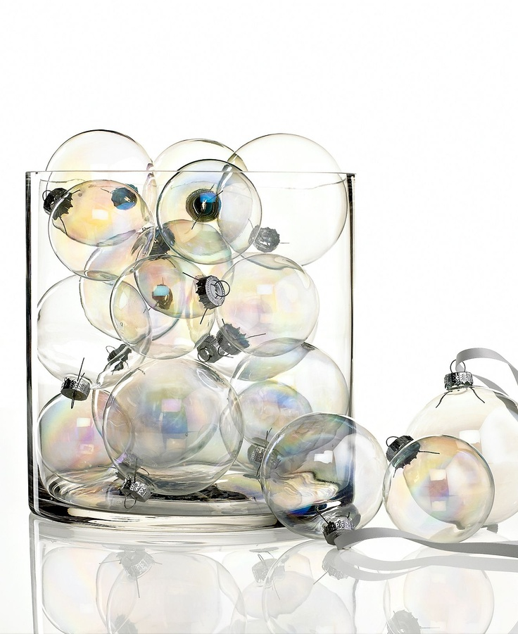 Kurt Adler Christmas Ornaments, Set of 20 Iridescent Glass Balls - All Christmas Ornaments - Holiday Lane - Macy's