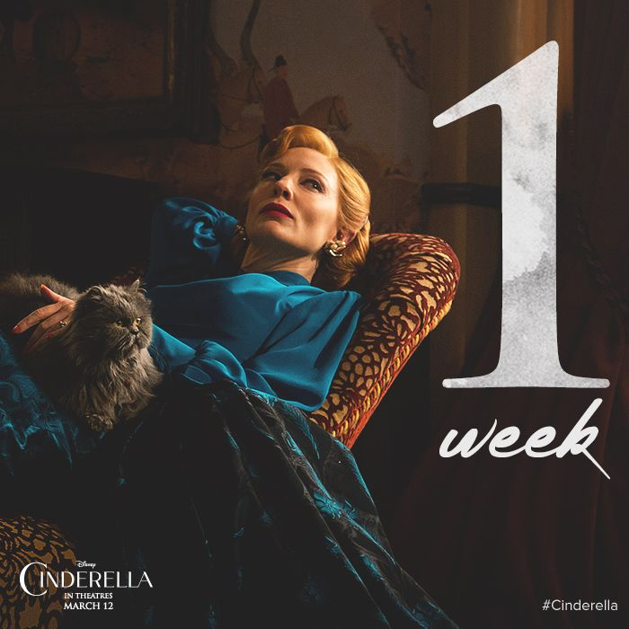 One week until this Wicked Stepmother give you the chills. See Disney's Cinderella on March12 in Philippine cinemas and IMAX