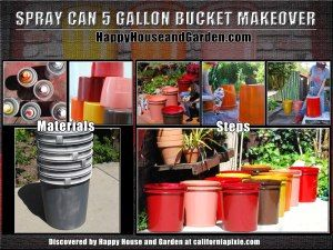 Spray Can 5 Gallon Bucket MakeoverHome improvement projects (even small ones) can dramatically improve your ho
