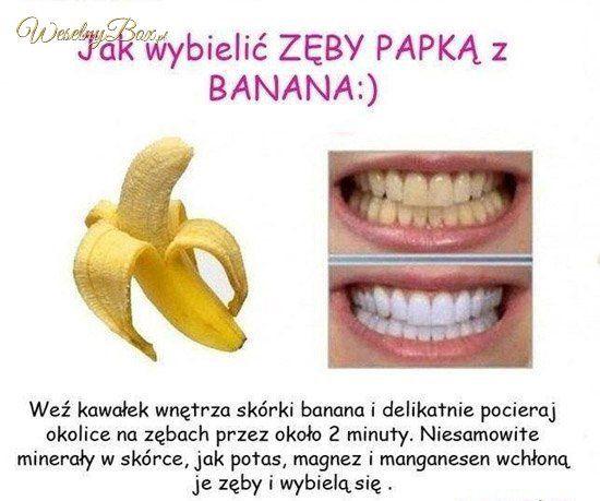 Jak wybielić zęby w domu - papka z banana!