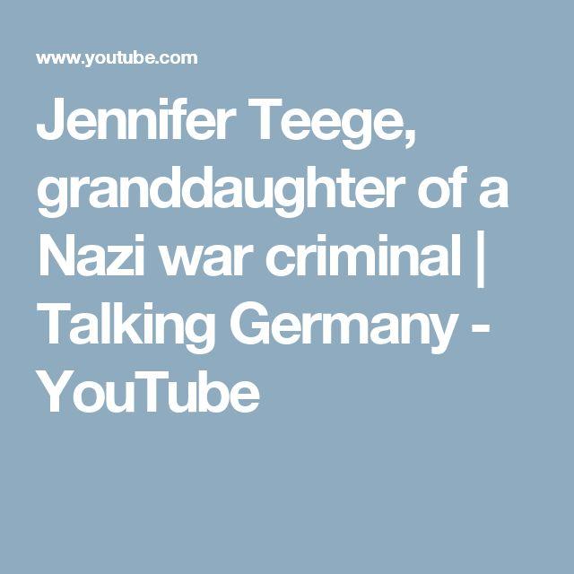 Jennifer Teege, granddaughter of a Nazi war criminal | Talking Germany - YouTube