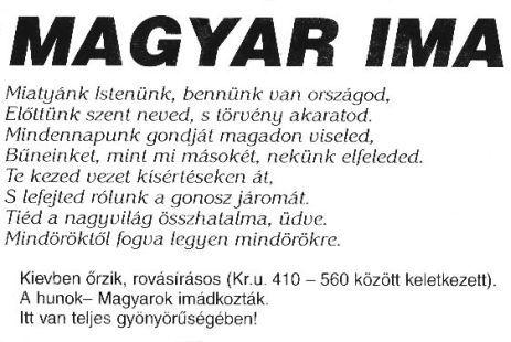 cc. 1500 éves magyar Miatyánk