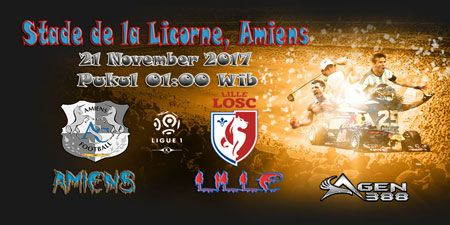Prediksi Skor Pertandingan Amiens Vs Lille 21 November 2017 - Prediksi Pertandingan Bola - Laga Pertandingan Perancis Liga 1 antara kesebelasan Amiens Vs Lille yang akan berlangsung di Stade de la Licorne, Amiens pada tanggal 21 November 2017, pukul 01:00 WIB, dini hari dipastikan akan berlangsung seru.