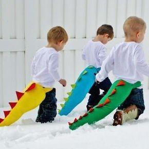 Roarrr, la coda da dinosauro per giocare tutti i giorni e a Carnevale. Dinosauro Costume da carnevale per bambini DIY facile da realizzare.