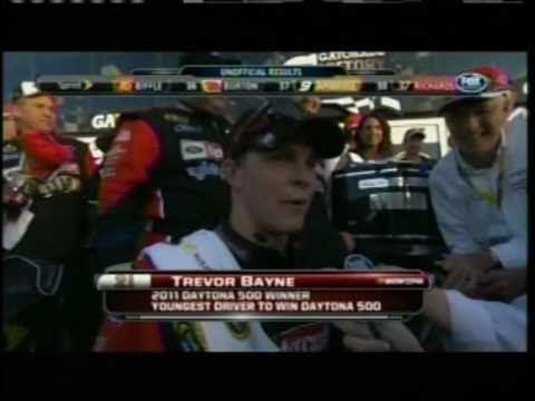 2011 Daytona 500 - Trevor Bayne Victory Lane Interview