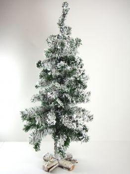 Great Tannenbaum k nstlich mit Kunstschnee auf einem Holzst nder cm hoch