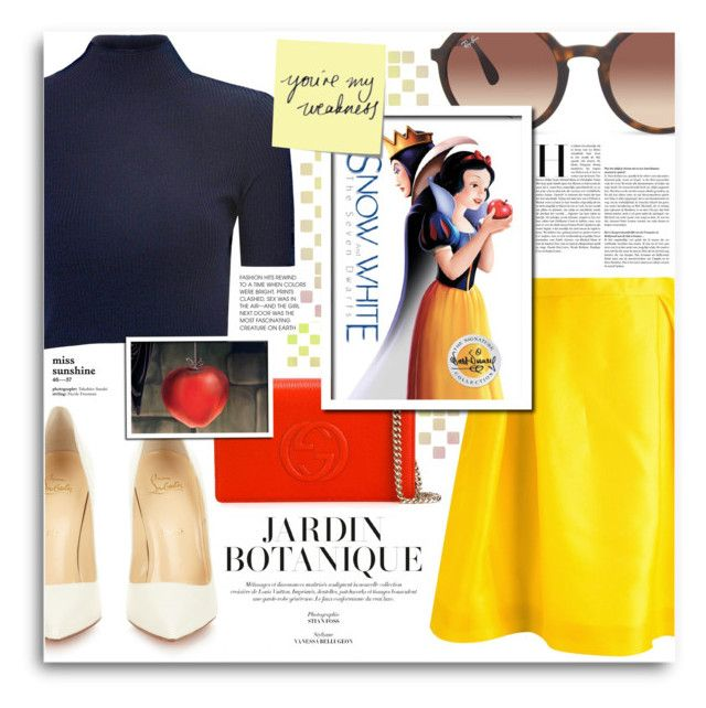 Disney's Snow White and the Seven Dwarfs by fernandamaverick on Polyvore featuring Glamorous, Ingie Paris, Christian Louboutin, Gucci, Ray-Ban, Post-It, women's clothing, women's fashion, women and female