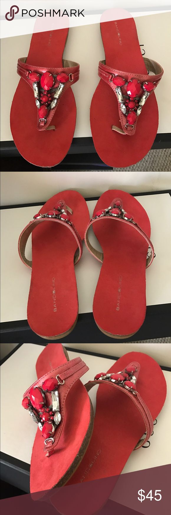 New Bandolino Sandals Coral Stones Embraced Sandals Bandolino Shoes Mules & Clogs