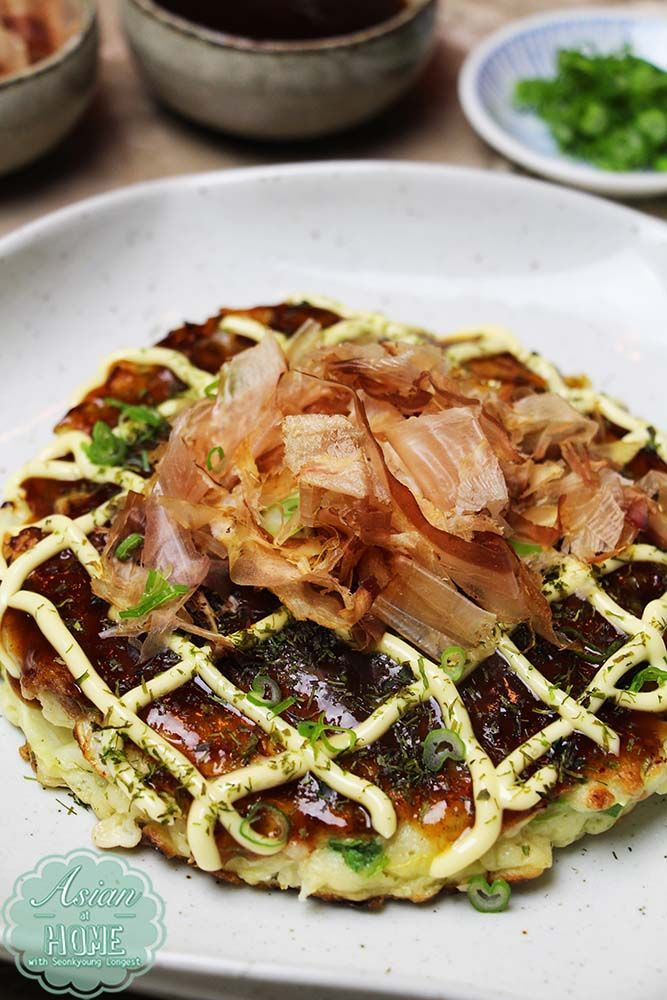 Okonomiyaki Recipe : How to Make Okonomiyaki (お好み焼き) Japanese Savory Pancake - Asian at Home