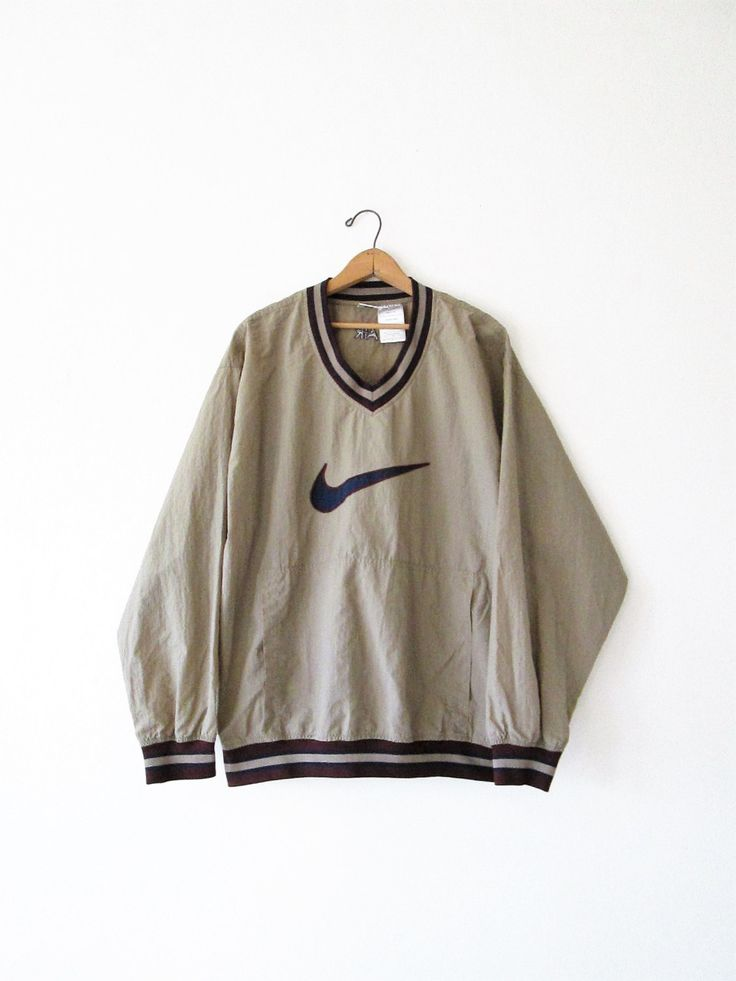 Vintage 1990s Nike Air Pullover Windbreaker Jacket Sz L by FreshtoDeathVintage on Etsy