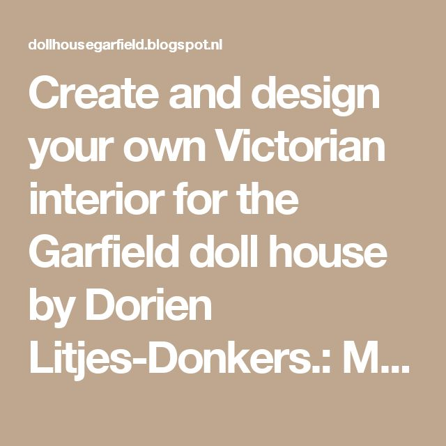 Create and design your own Victorian interior for the Garfield doll house by Dorien Litjes-Donkers.: Making a juicer.