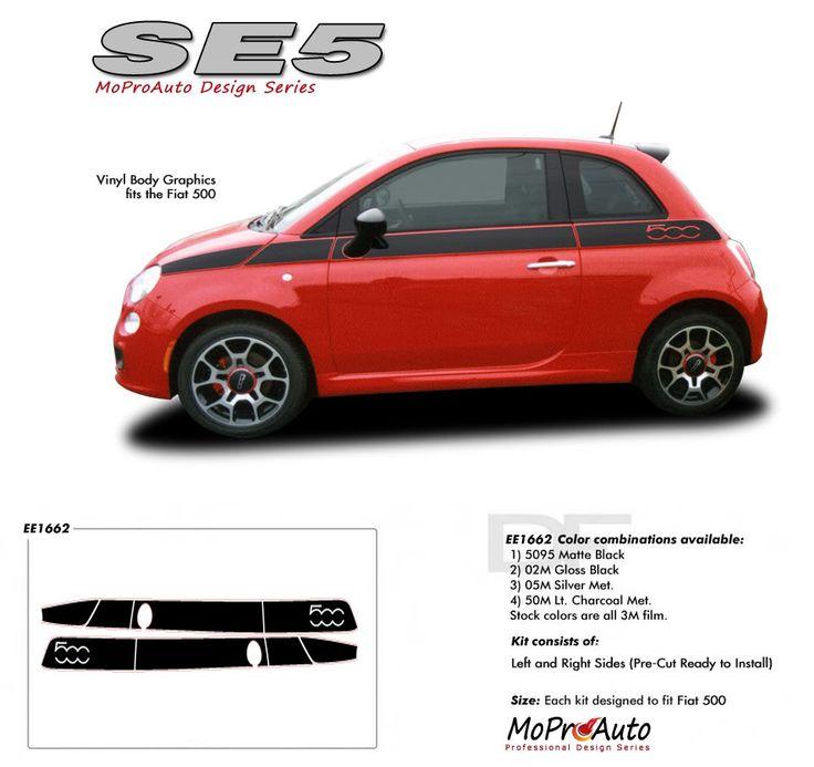 2011 2012 2013 2014 SE 5 : Fiat 500 Vinyl Graphics Kit