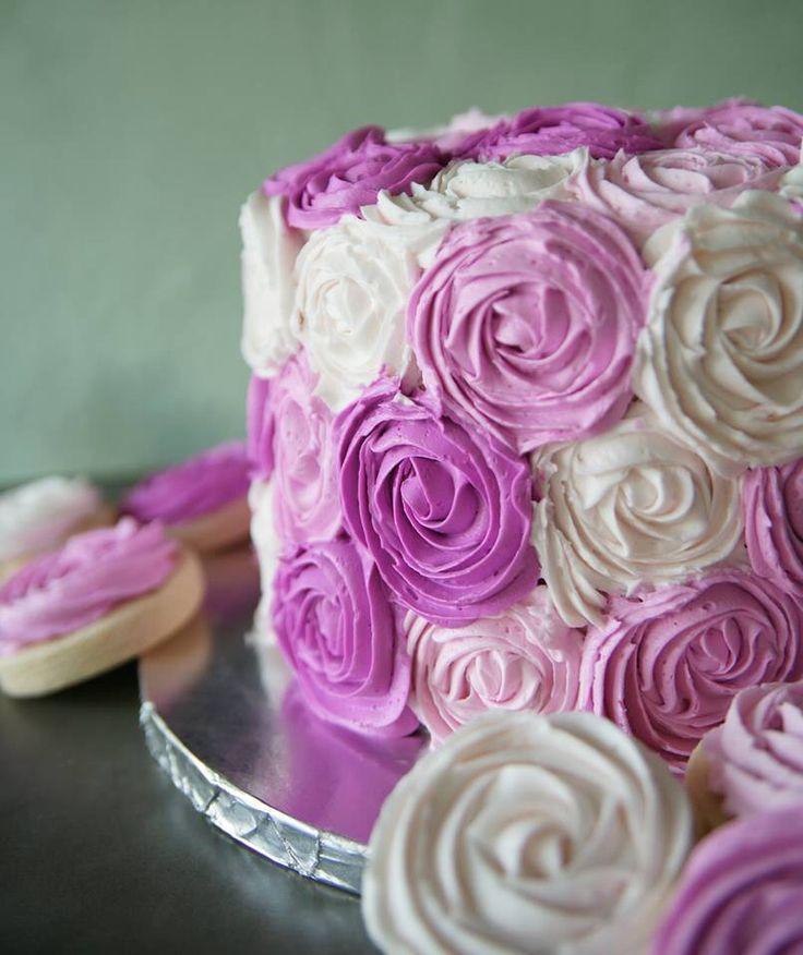 Shades of pink rosette cake | Sweet IRB cakes | Cake ...