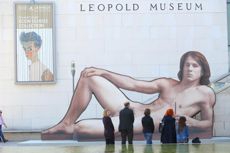 It's not every day a naked man takes to the streets of your city.... this from Vienna.