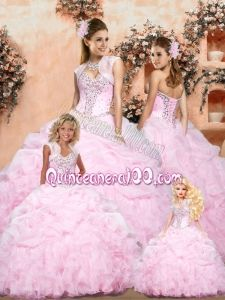The Super Hot Baby Pink Princesita Dress with Pick-ups and Ruffles