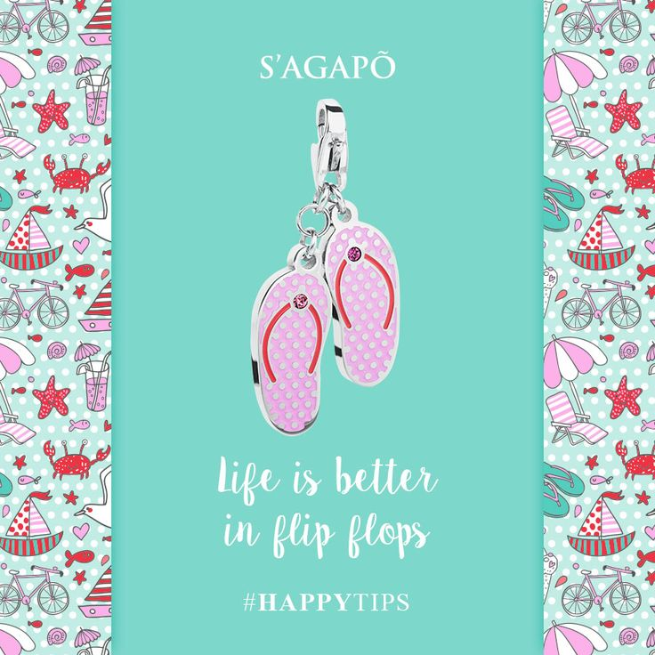 Life is better in flip flops #happy #happytips #flipflops #summer #estate #charm #gioielli #quote #summerquote