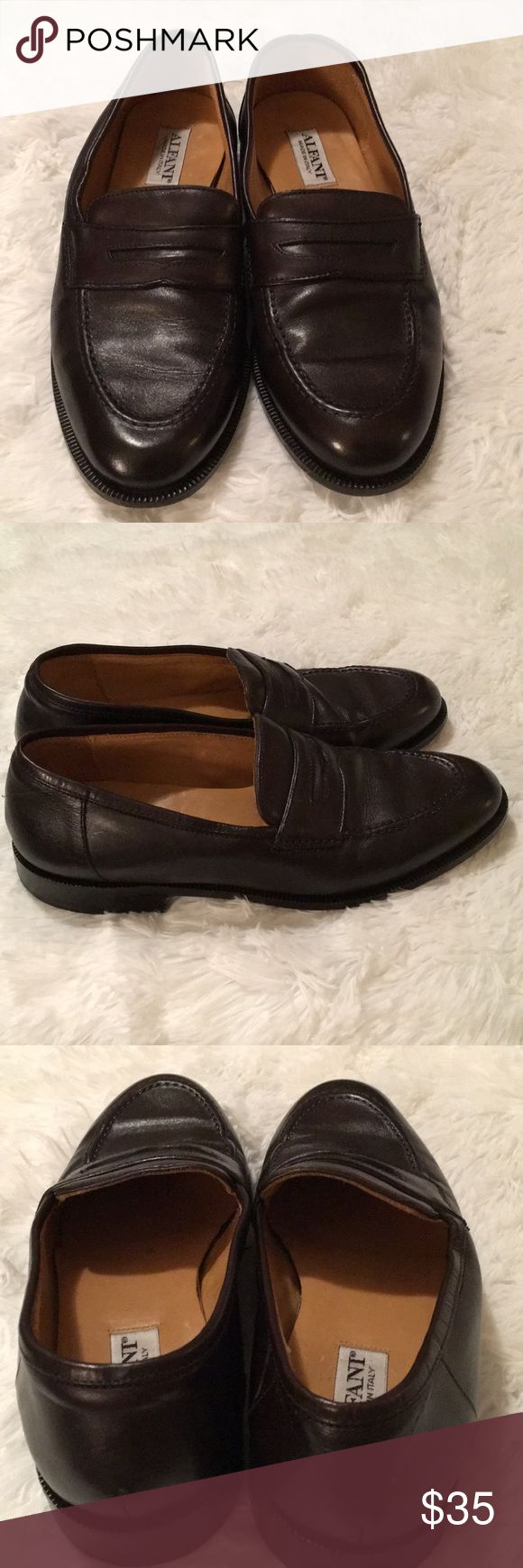 Alfani  Made in Italy Black Penny Loafer Slip-On Pair of Size 8 1/2 M Black All Leather Penny Loafer Slip- Ons by Alfani.  These were made in Italy.  Flexible Construction. Alfani Shoes Loafers & Slip-Ons