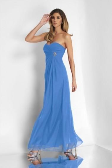 Alexia Designs – 4100 Strapless Empire Waist Chiffon Gown Women Autumn Leopard S…