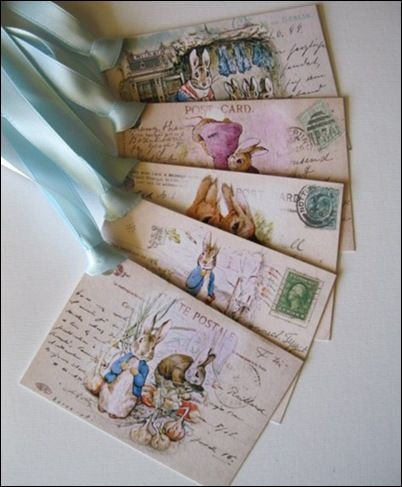 Beatrix Potter postcards - placecards, notes, or invitations