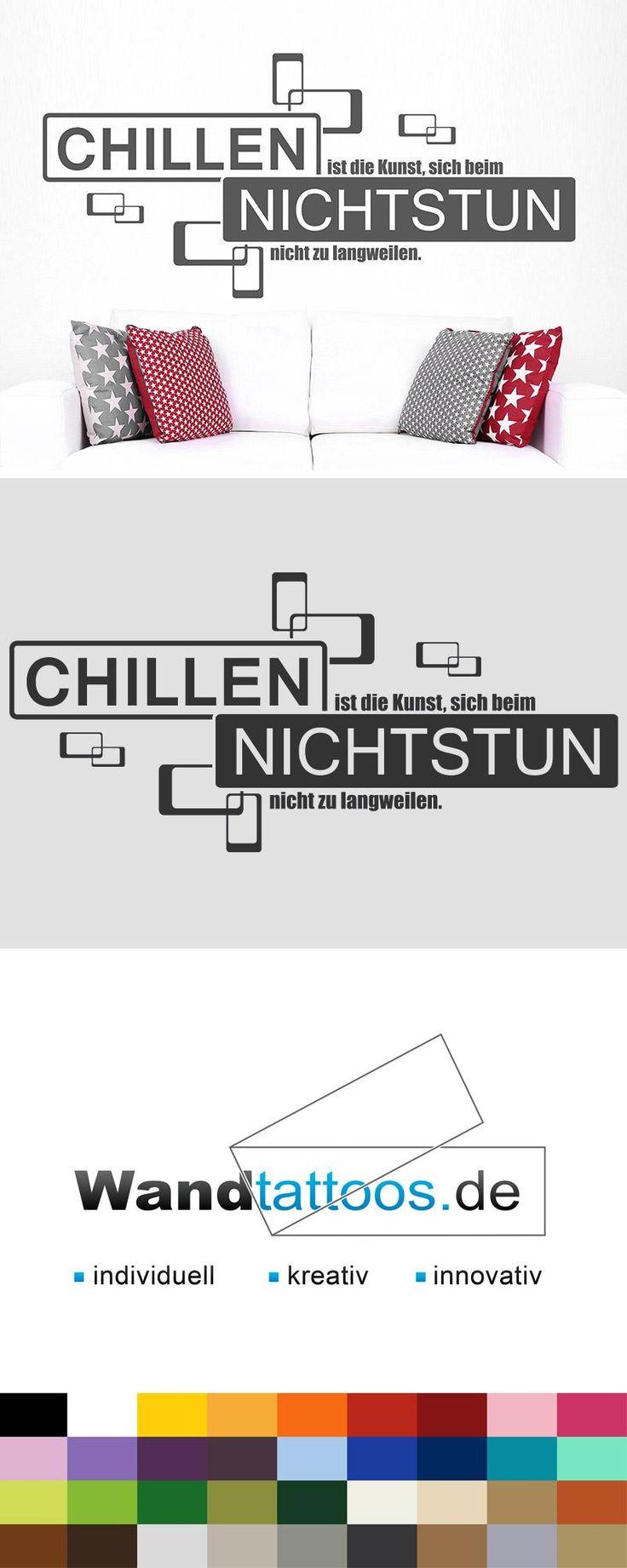 Wandtattoo Chillen und Nichtstun Spruch – Wandtattoos.de