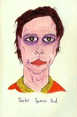 Matthew Gray Gubler Thinks This Is A Really Bad Interview Gubler's portrait of Dr. Spencer Reid.