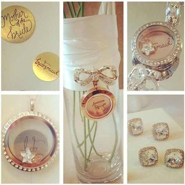 Some of the pieces of the Origami Owl bridal collection available August 18, 2014.