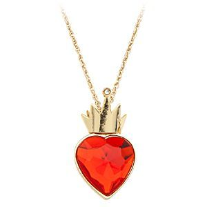 Disney Descendants Necklace | Disney StoreDescendants Necklace - Celebrate the Disney Channel Original Movie in dazzling style with this Descendants Necklace. Inspired by Evie's crown icon, it features a faceted red heart jewel within a golden crown setting, and gold chain.