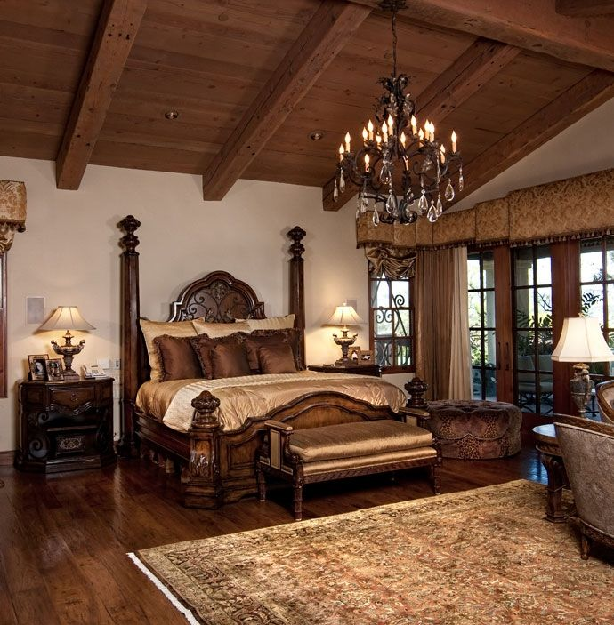 Rustic ranch bedroom love the colors and the vaulted Master bedroom ceiling colors