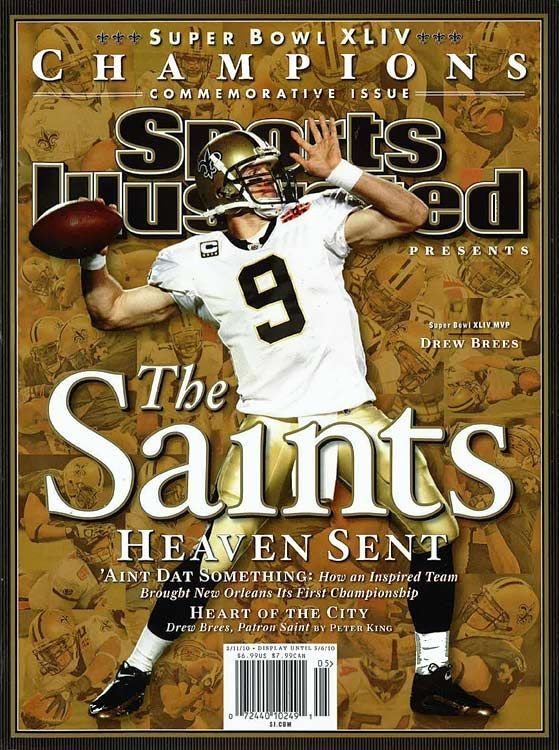 """Drew Brees and the New Orleans Saints are the Super Bowl Champions 