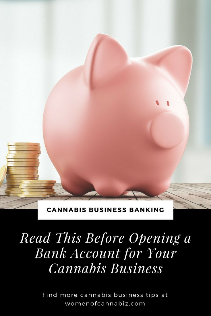 Thinking about opening a bank account for you cannabis business? What you need to know about banking in the cannabis industry. http://www.womenofcannabiz.com/cannabis-business-education/read-this-before-opening-a-bank-account-for-your-cannabis-business