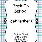 Back To School Icebreakers  Use the 56 enclosed cards in any of the following activities to help your students get to know each other.  Switch and ...