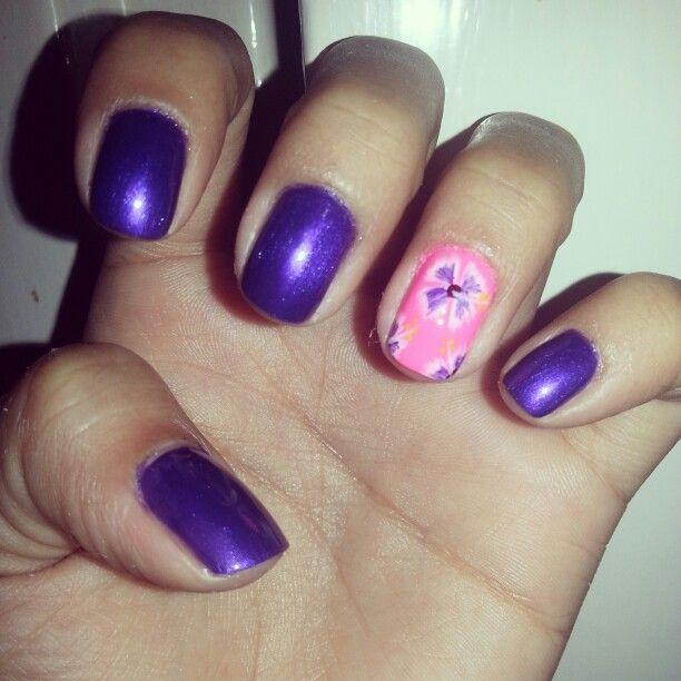 Bright purple!