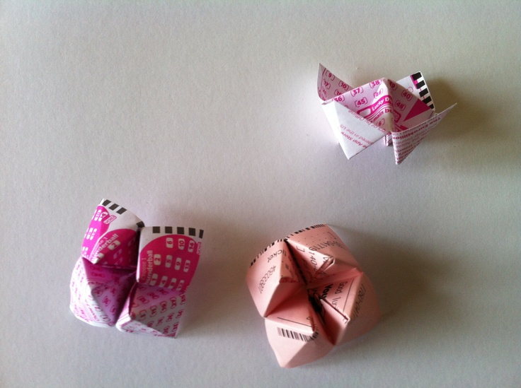 Origami Fortune Teller Lottery Tickets
