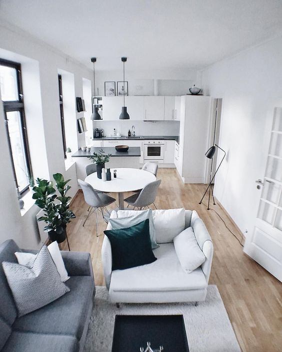 Outstanding Small Apartment Interior Design Ideas is part of Living Room Designs Interior - While interior decorating may work easily for spacious houses, it may not for apartments The reason is that most apartments […] Living Room Kitchen, Interior Design Kitchen, Interior Design Living Room, Bathroom Interior, Interior Decorating, Decorating Ideas, Decor Ideas, Small Apartment Interior Design, Modern Interior