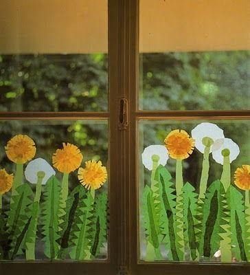 Tavaszcsalogató ablakdíszek - Színes Ötletek