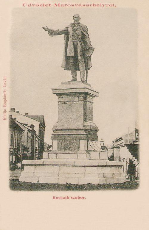 Marosvásárhely:Kossuth szobor,1899-ben.