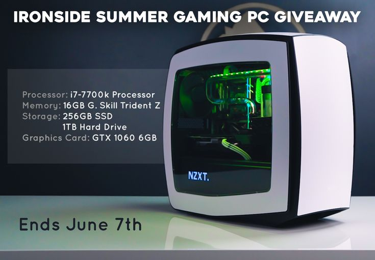 Ironside Computers - Win a Core i7 + GTX 1060 Summer Gaming PC - http://sweepstakesden.com/ironside-computers-win-a-core-i7-gtx-1060-summer-gaming-pc/