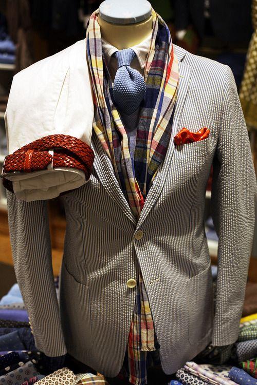 Rose & Born Seersucker: Babes Fashion, Men Clothing, Fashion Men, One Wardrobes, Men Style, Men Fashion, Born Seersucker, Gentlemen Emporium, Style Fashion