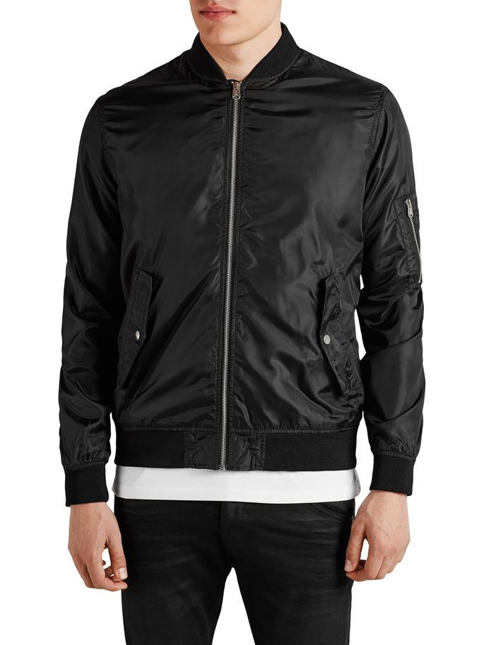 CORE by JACK & JONES - Light Bomber Jacket, Black, regular fit
