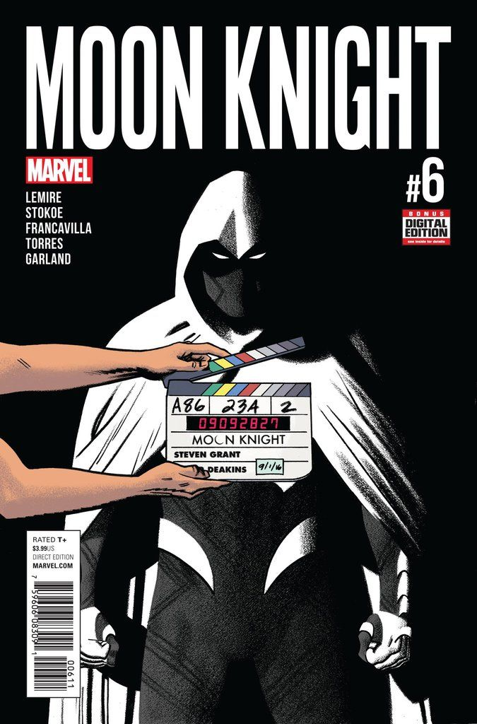 """MARVEL COMICS (W) Jeff Lemire (A/CA) Greg Smallwood """"INCARNATIONS"""" STARTS NOW! • Marc Spector broke his body to escape the prison Khonshu built for his mind... • ...And Stephen Grant awoke in New York"""