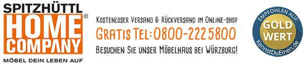 Spitzhüttl Home Company Möbelhaus bei Würzburg mit Küchen, Stressless Sessel, Stressless Sofas, Tische, Stühle, Teppiche und versandkosenfreiem Online-Shop.